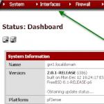 Настройка pfSense: сетевые интерфейсы