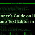 Руководство для начинающих по использованию редактора Nano Text в Linux