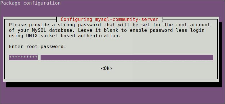 Установка пароля Root MySQL
