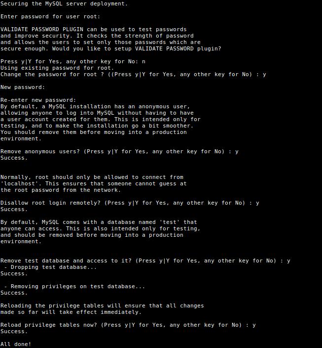 Безопасная установка сервера MySQL
